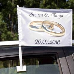 Autoflagge Hochzeit