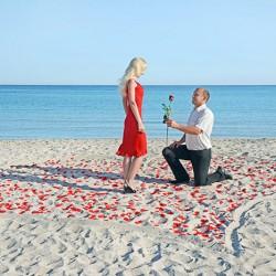 Heiratsantrag Urlaub Strand