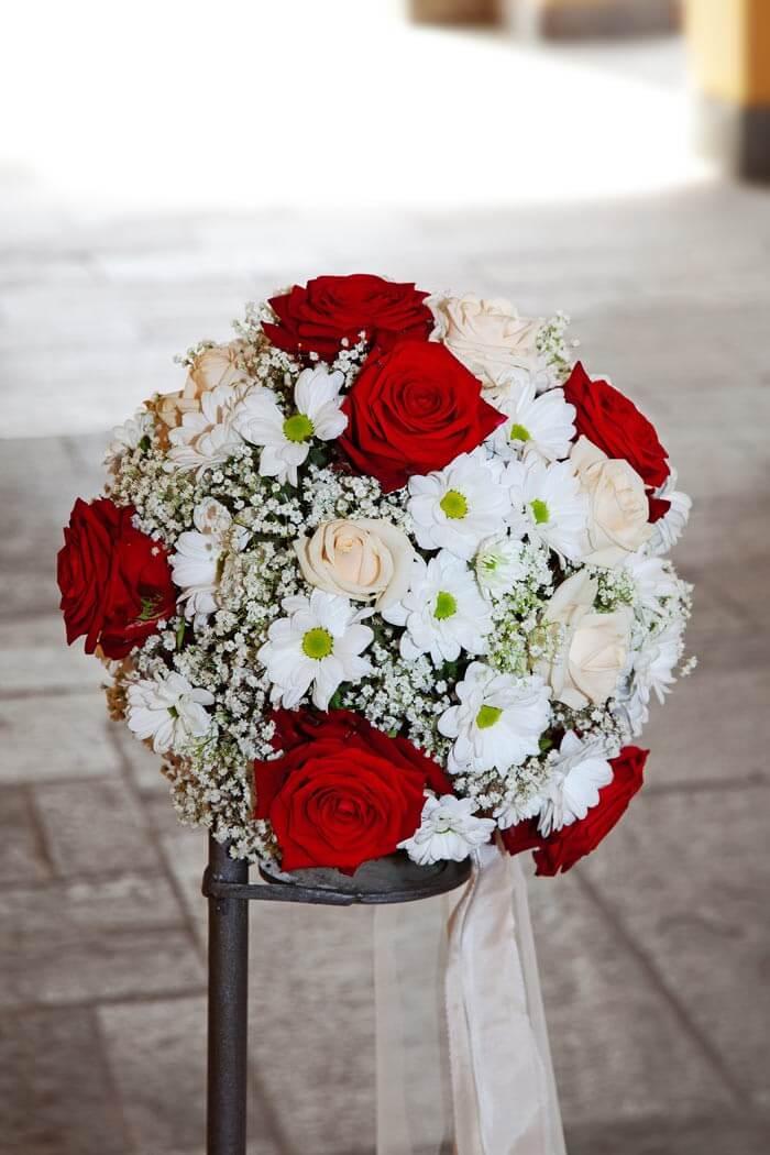 Hochzeitsdeko rot weiß