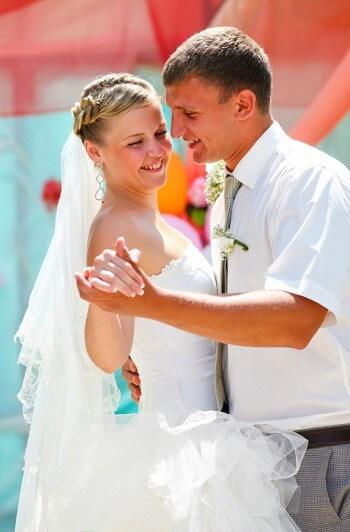Hochzeitstanz im Freien