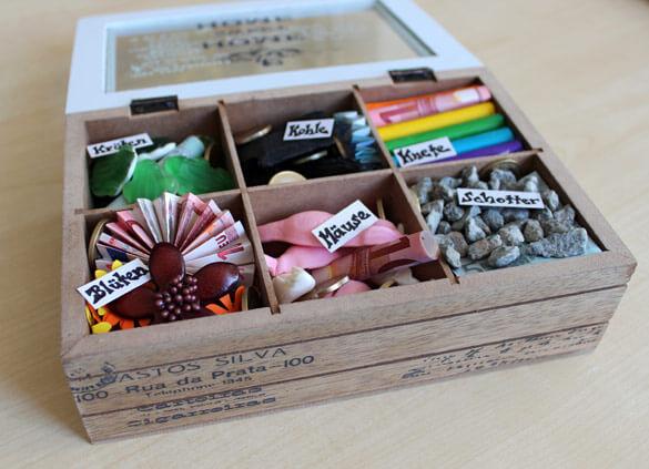 Kreatives Geldgeschenk Teebox