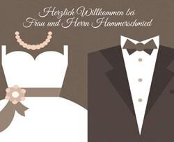 Personalisierte Fußmatte Brautpaar
