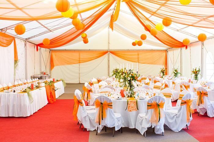 Raumdeko Hochzeit