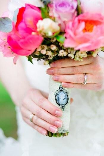 Brautstrauß Broschen