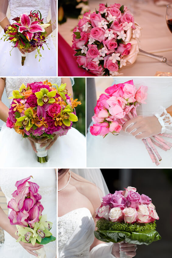 Brautstrauß Rosa, Pink und Lila