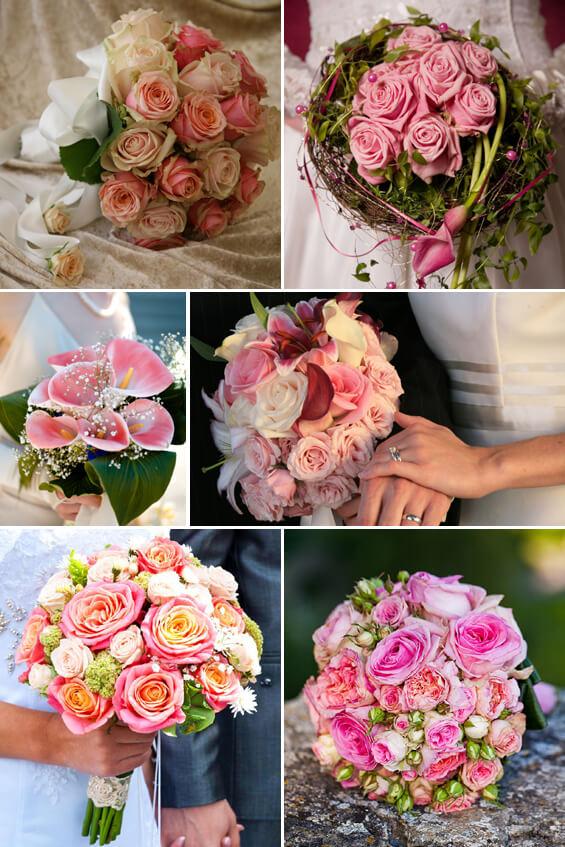 Brautstrauß in Rosa