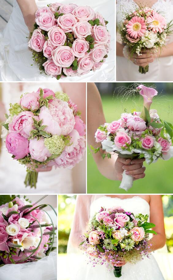 Brautstrauß in Rosa und Weiß