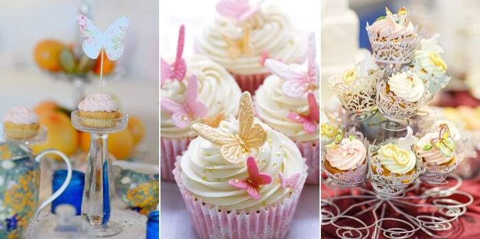 Cupcake-Deko Schmetterlinge