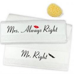 Handtücher zur Hochzeit