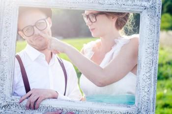 Hochzeitsbilder im Rahmen