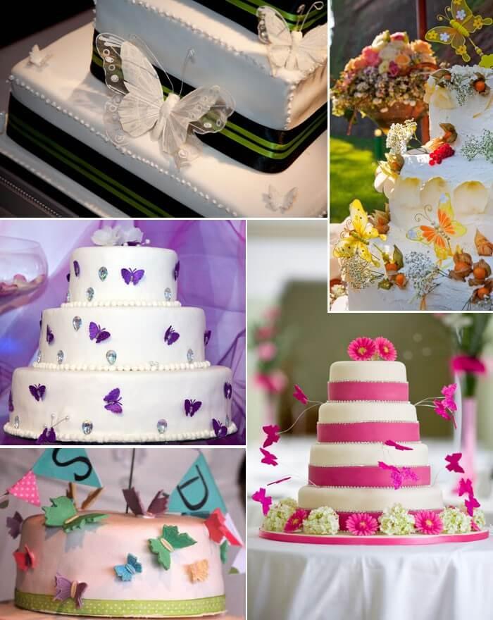 Hochzeitstorte Schmetterlinge