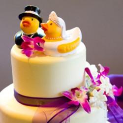Tortenfigur: Enten als Brautpaar