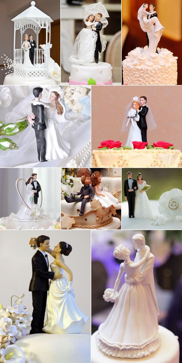 Tortenfiguren klassisch mit Brautpaar