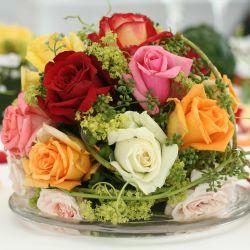 Blumendeko Rosen