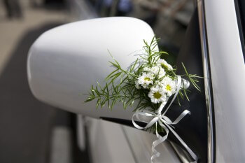 Blumendeko Auto