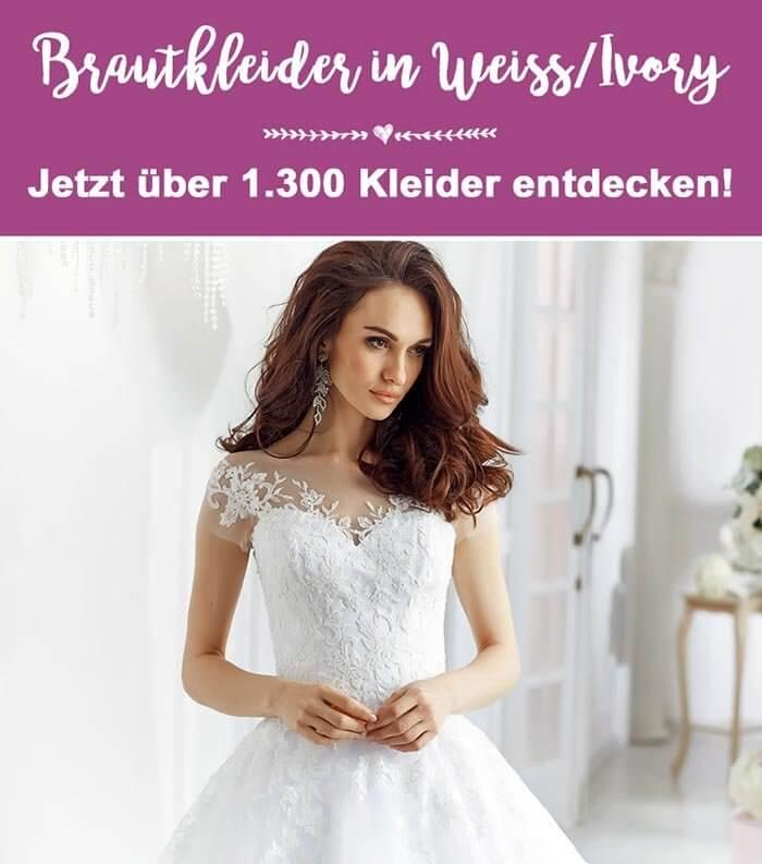 Brautkleider Weiß Ivory