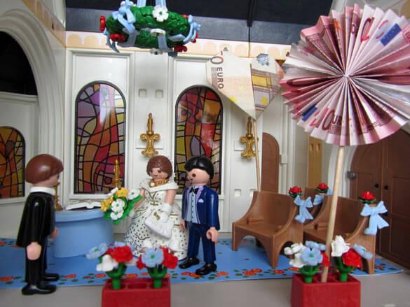 Brautpaar Playmobil Geldgeschenk