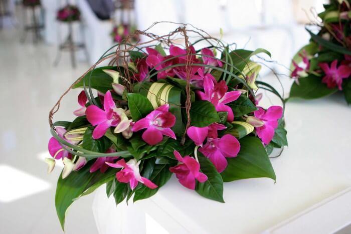 Hochzeitsdekoration Orchidee