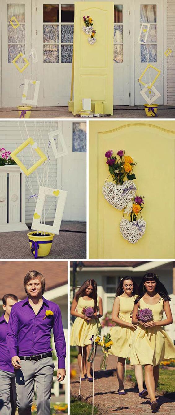 Hochzeitsinspiration gelb lila