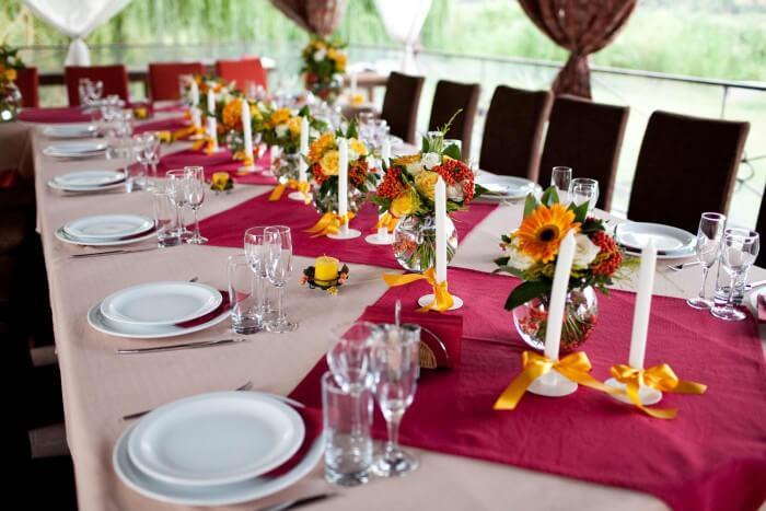 Ideen Tischdeko Hochzeit im Restaurant