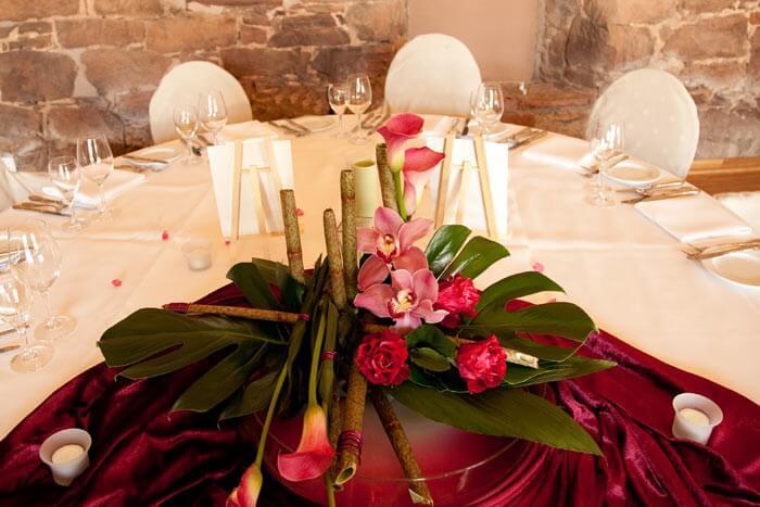 Tischdeko Hochzeit Blumen
