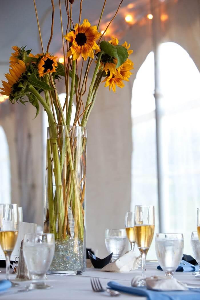 Tischdeko Sonnenblumen