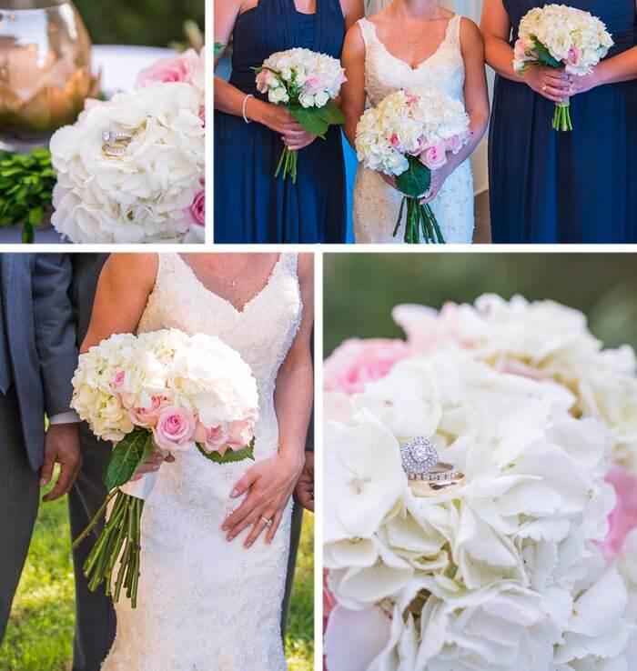 Hochzeit blau weiß