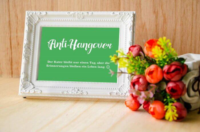 Hangover Kit Hochzeit