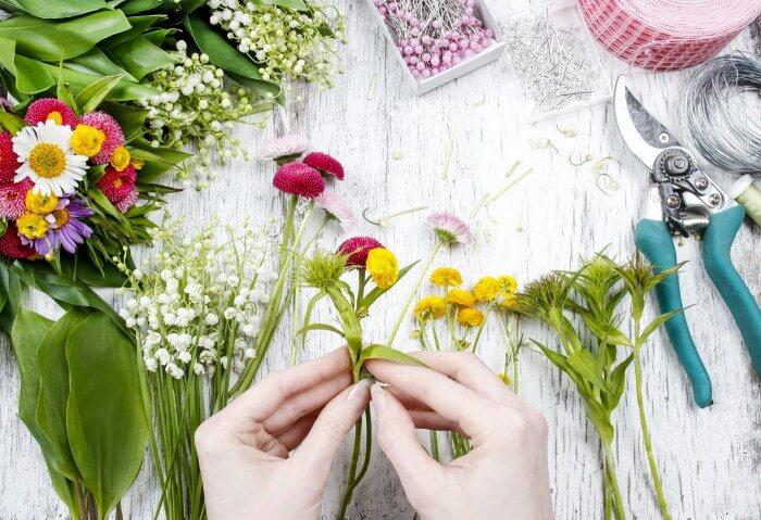 Tischdeko im Frühling