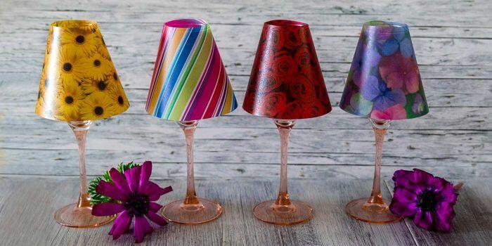 Weinglas Lampenschirm