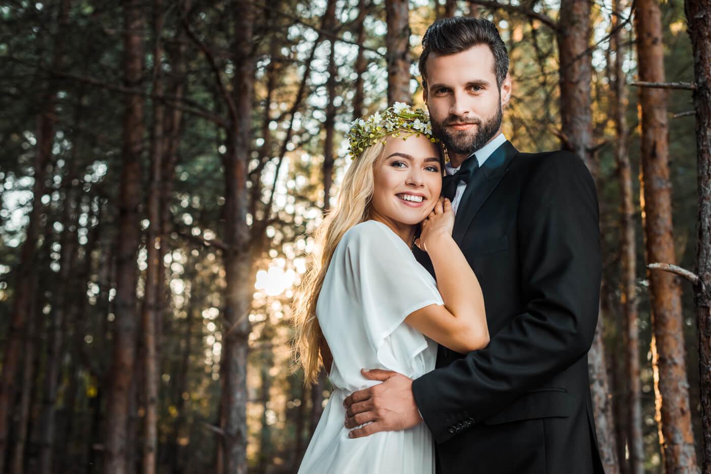 Hochzeitsbilder Wald