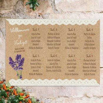 Lavendel Hochzeit Sitzplan