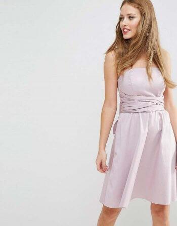 Brautjungfer Kleid flieder