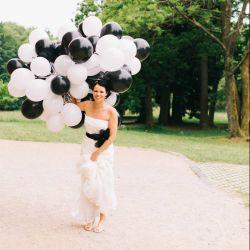 Brautkleid Schwarz Weiß