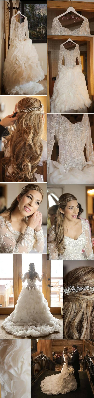 Hochzeitskleid Winter