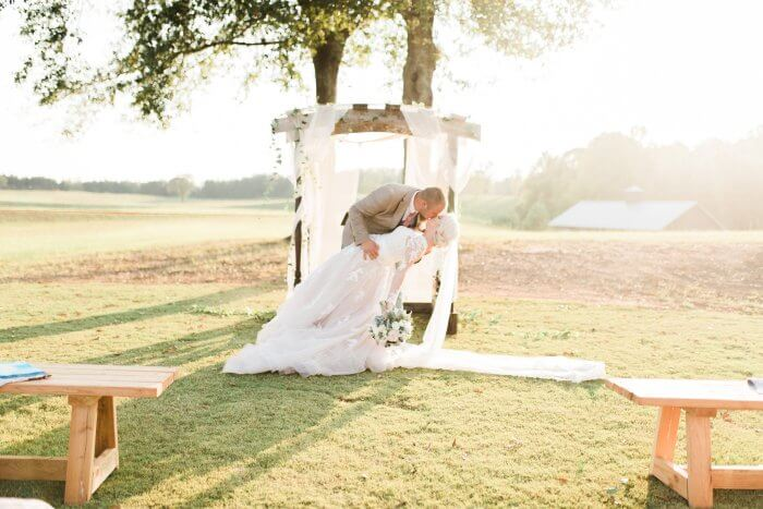 Brautkleid in Champagner