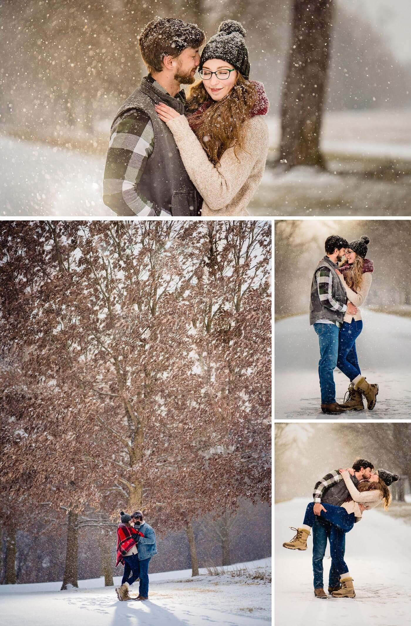 Verlobungsbilder im Schnee