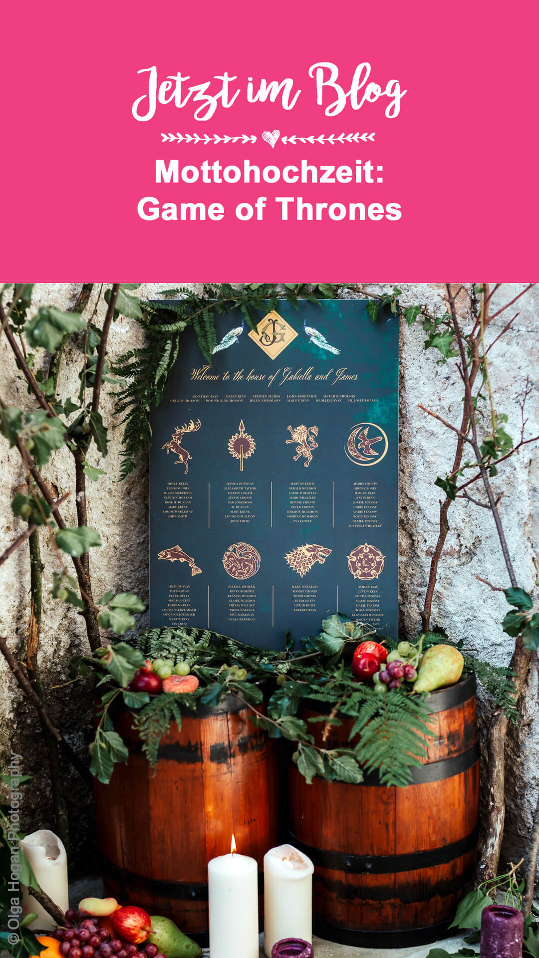Game of Thrones Mottohochzeit