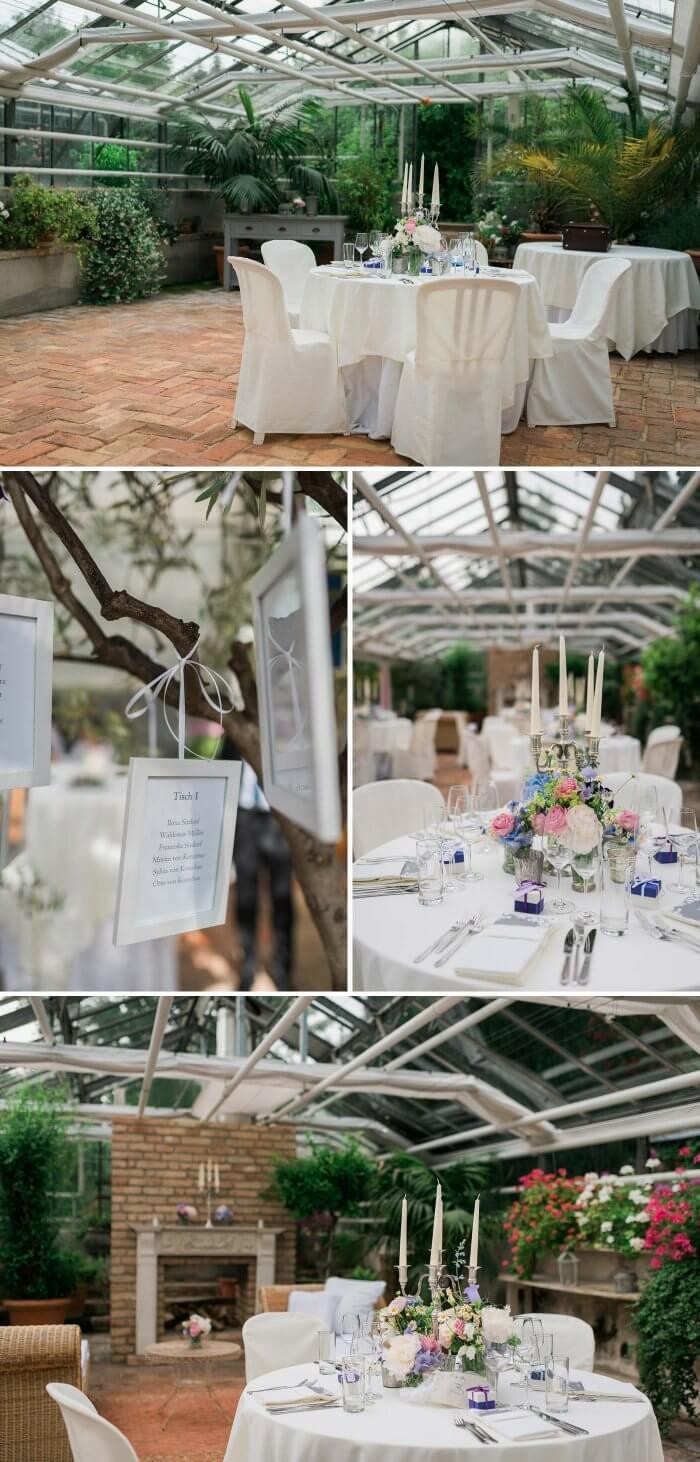 Hochzeit Gewächshaus
