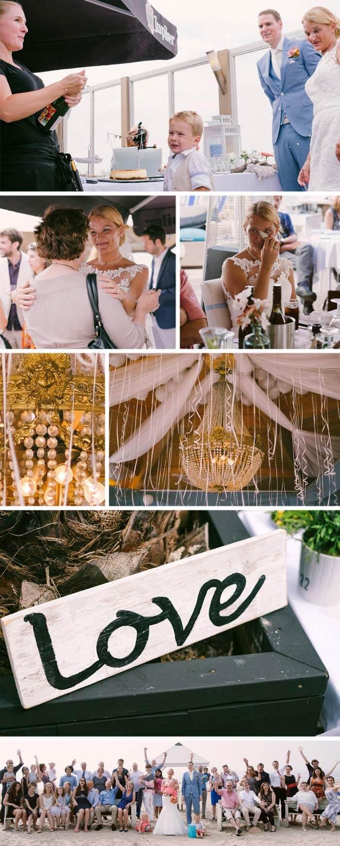Sektempfang Heiraten Holland-Strand