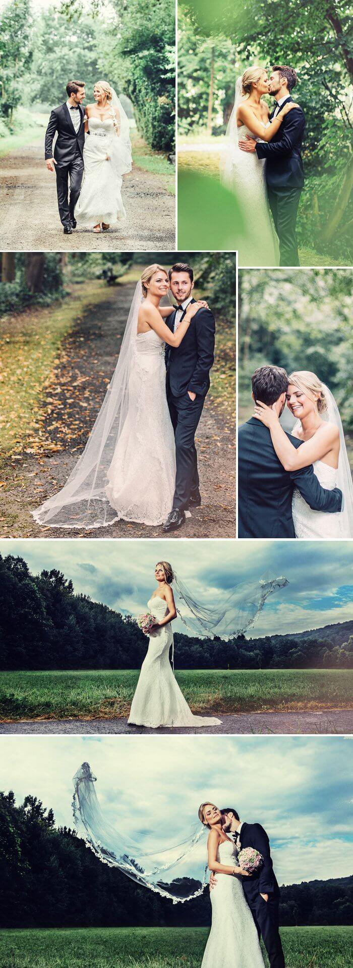 Hochzeitsshooting im Wald