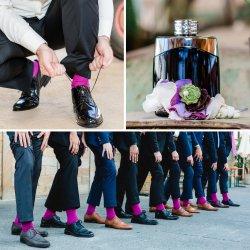 Farbige Socken Hochzeit