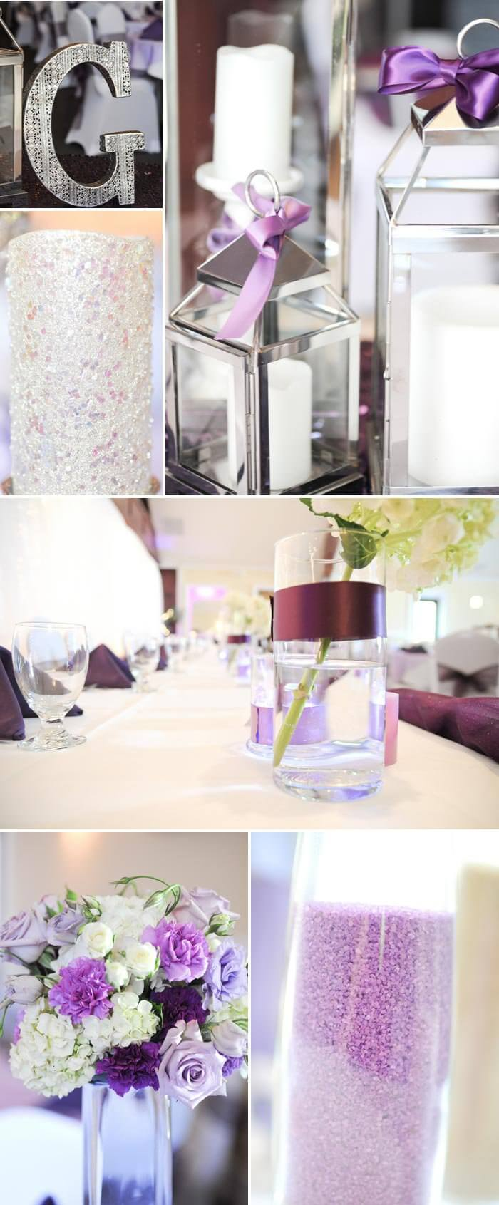 Tischdeko Hochzeit Flieder