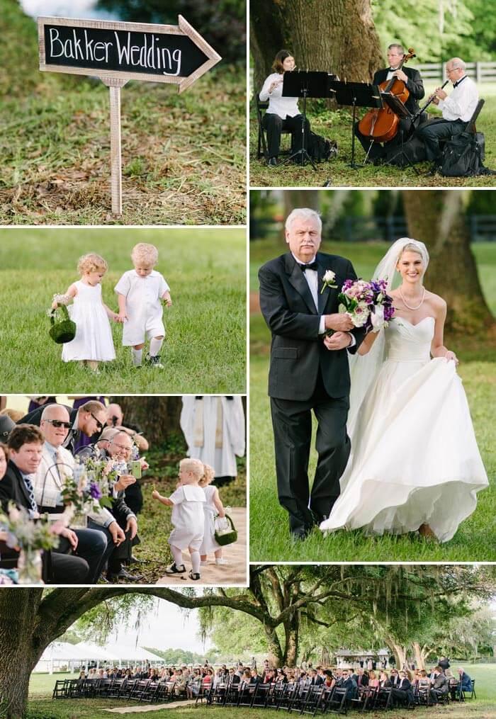 Hochzeit in Lila & Weiß