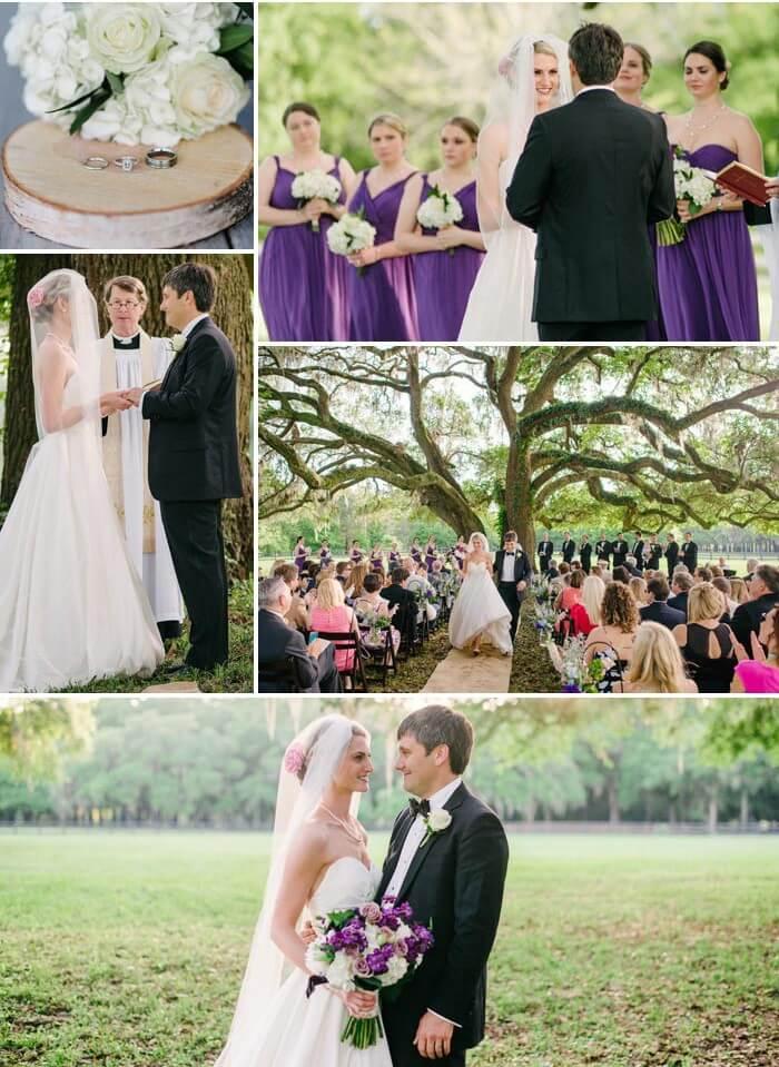 Hochzeit in Lila