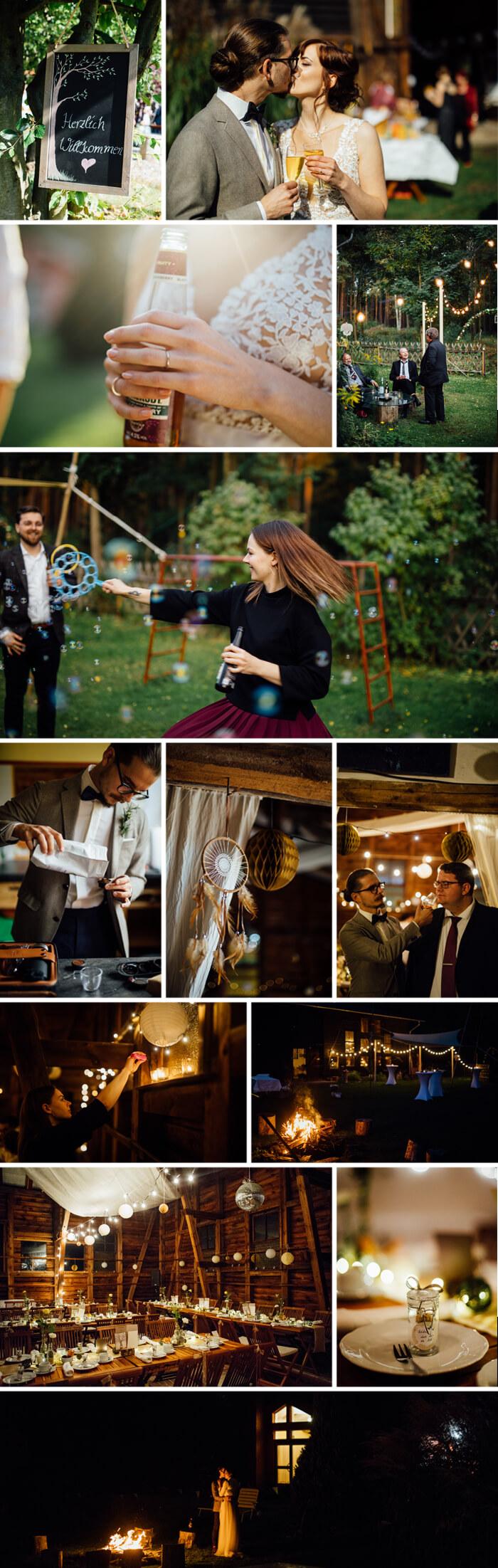 Lockere Hochzeitsfeier
