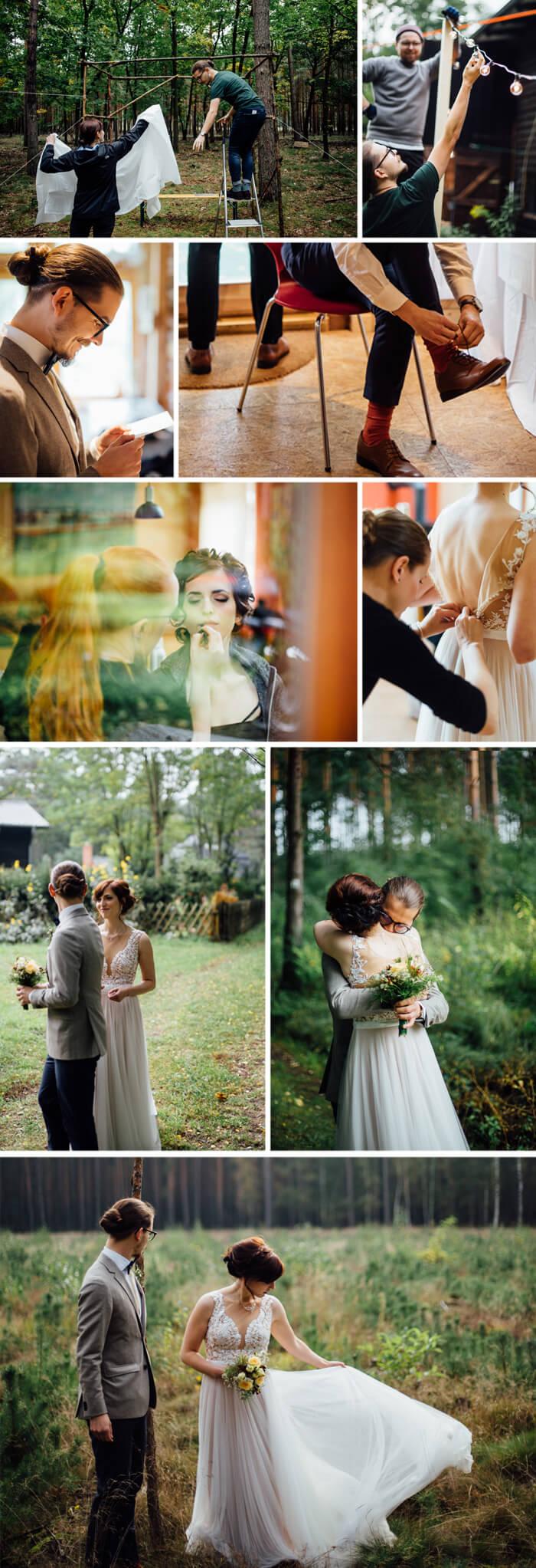 Lockeres Brautkleid