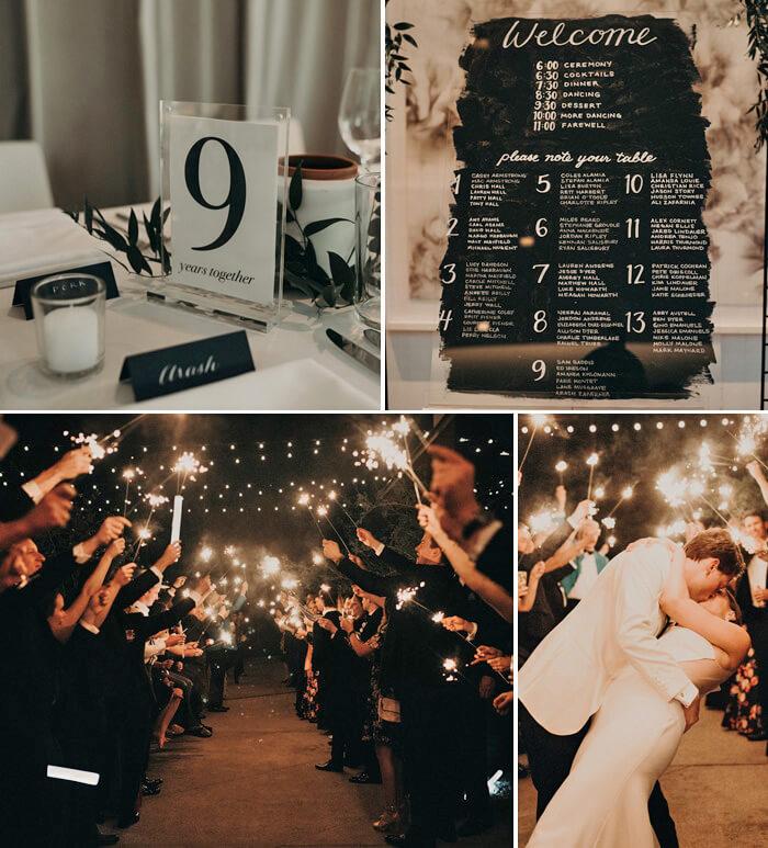 Deko schwarz weiß Hochzeit