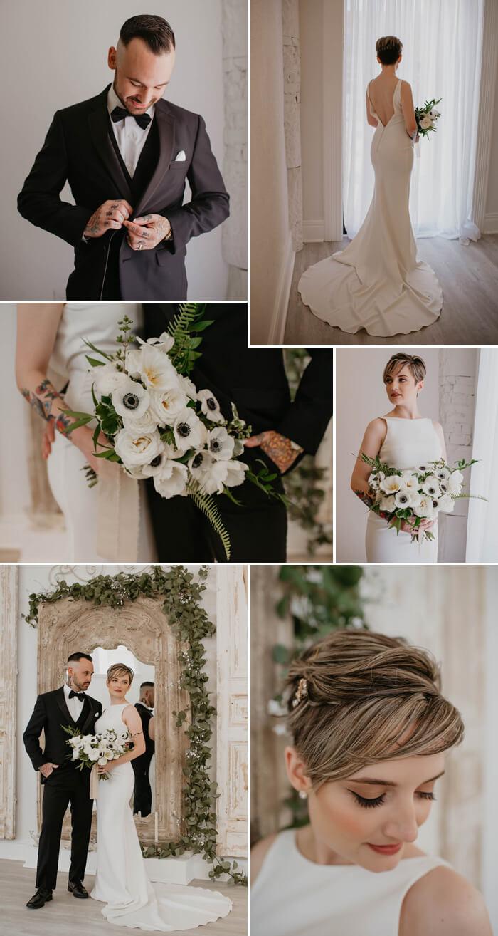 Hochzeitspaar Schwarz Weiß