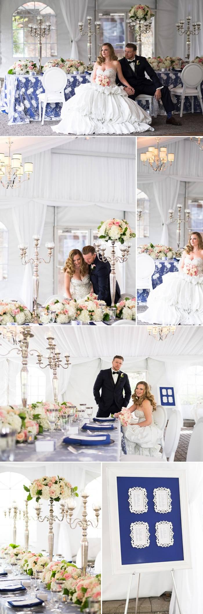 Hochzeitsdeko Blau Weiß